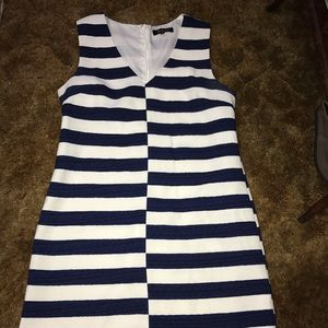 Dress Stripe blue n white by Beulah style large
